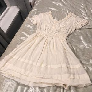 Urban outfitters cream cotton dress